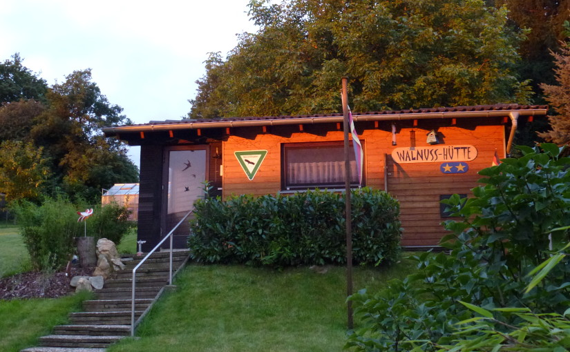Hütte Morgendämmerung